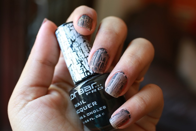 colorbar crackle nail paint black