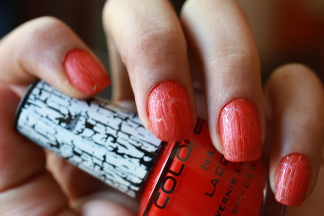 colorbar crackle nail paint red review