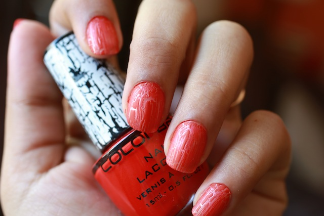 colorbar crackle nail paint red