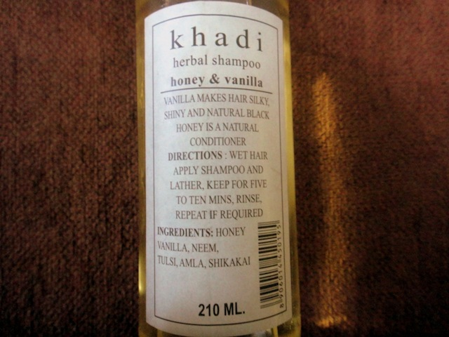 Khadi honey vanilla shampoo review