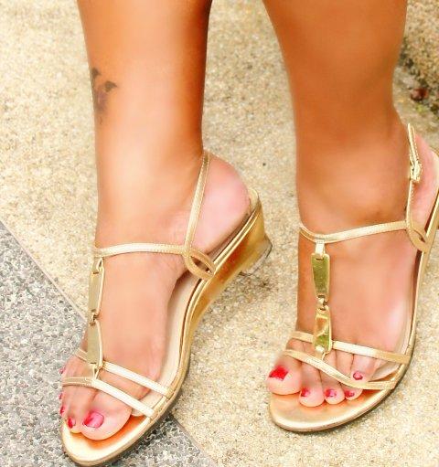 crystal footwear