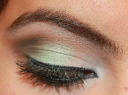 Mint+Brown+Eye+Makeup+Tutorial