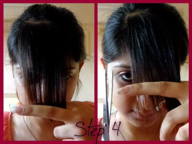 how to razor cut bangs yourself