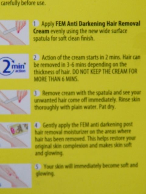 Fem Anti Darkening Hair Removal Cream (3)