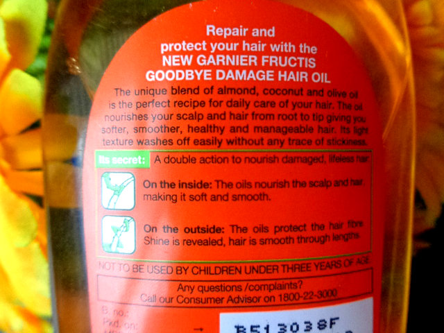 Garnier Fructis Goodbye Damage Strengthening Hair Oil (3)
