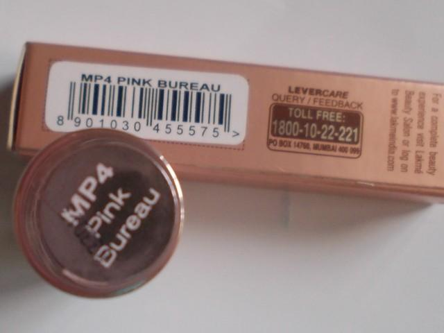 Lakme 9 to5 Lip Color Pink Bureau (6)