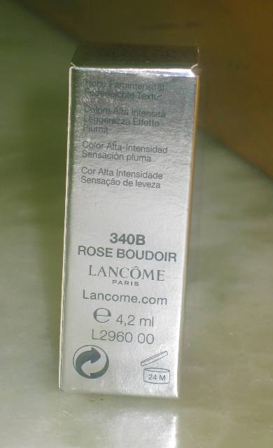 Lancome Rouze in Love Lipstick Rose Boudoir (4)