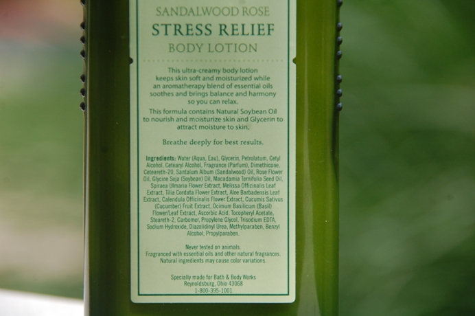 Stress Relief Sandalwood Rose Body Lotion 2