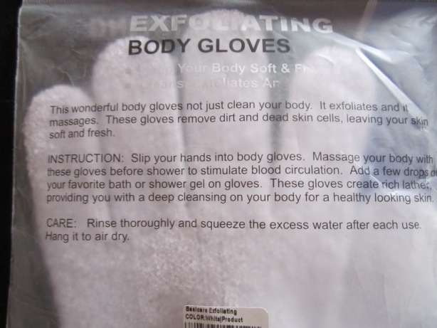 Basicare Exfoliating Body Gloves 3