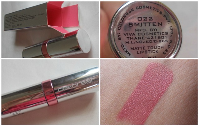 Colorbar matte touch lipstick smitten 1