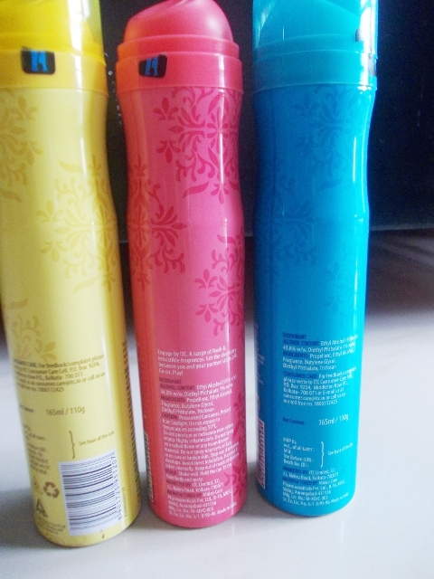 Engage Bodylicious Deo Spray Tease, Spell & Blush (3)