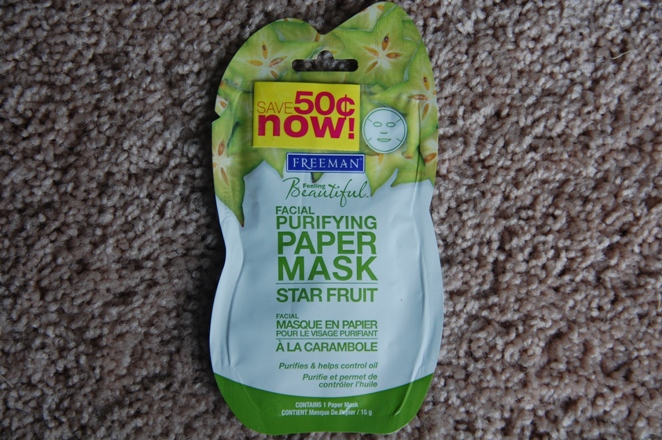 Freeman+Starfruit+Facial+Purifying+Paper+Mask+Review