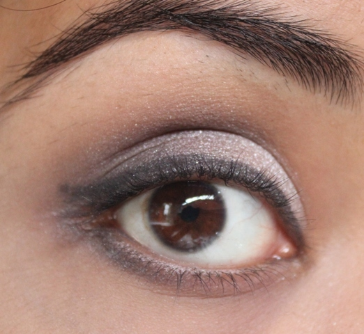 Metallics Silver & Purple Grey Smokey Eye Makeup Tutorial (10)