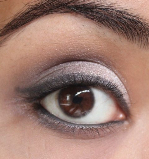 Metallics Silver & Purple Grey Smokey Eye Makeup Tutorial (11)