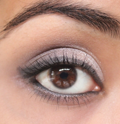 Metallics Silver & Purple Grey Smokey Eye Makeup Tutorial (12)