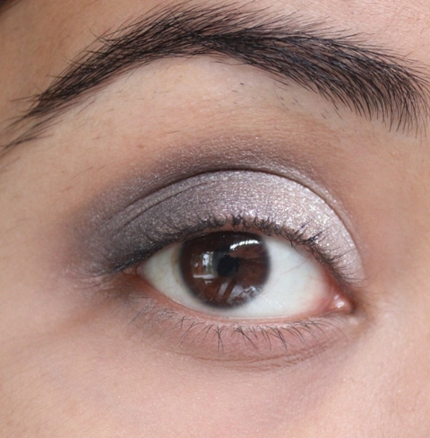 Metallics Silver & Purple Grey Smokey Eye Makeup Tutorial (7)