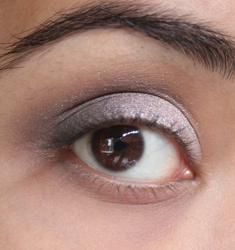 Metallics Silver & Purple Grey Smokey Eye Makeup Tutorial (8)