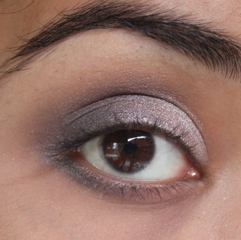 Metallics Silver & Purple Grey Smokey Eye Makeup Tutorial (9)