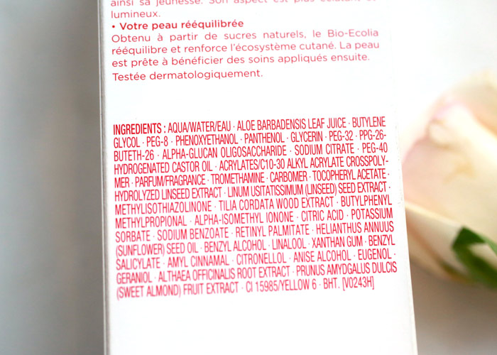clarins extra comfort toning lotion ingredients