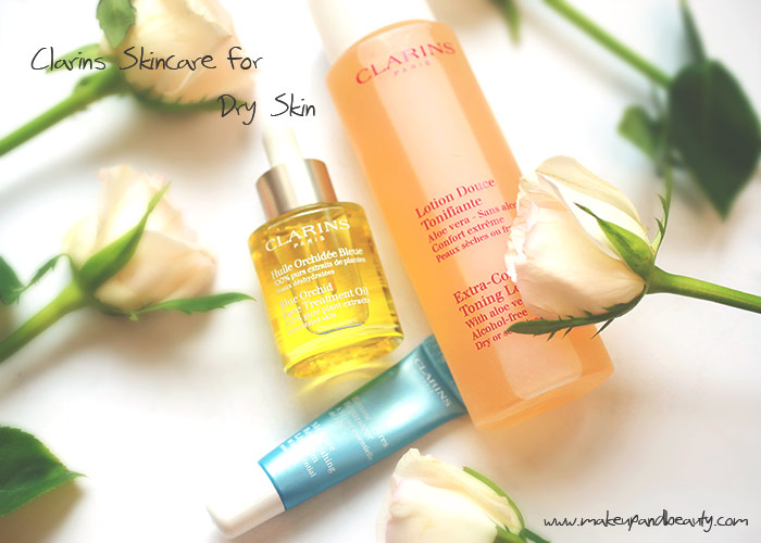 clarins skin care dry skin