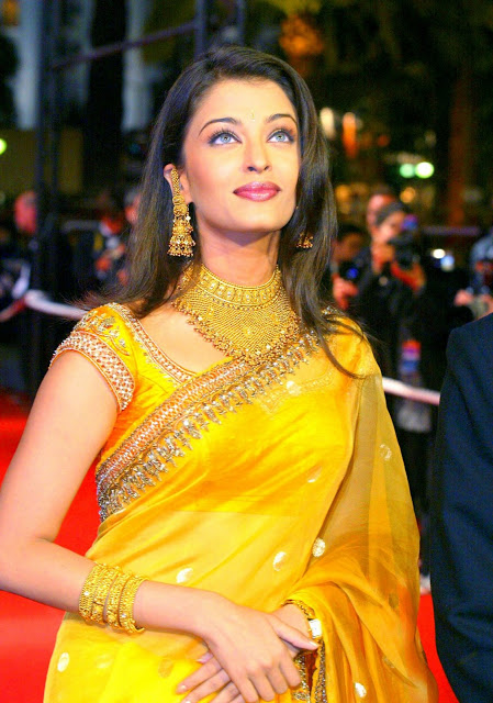 Aishwarya Rai yellow saree