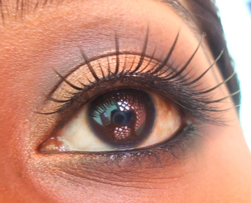 Bronze eye makeup 2