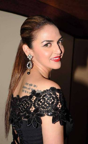 Esha Deol tattoo