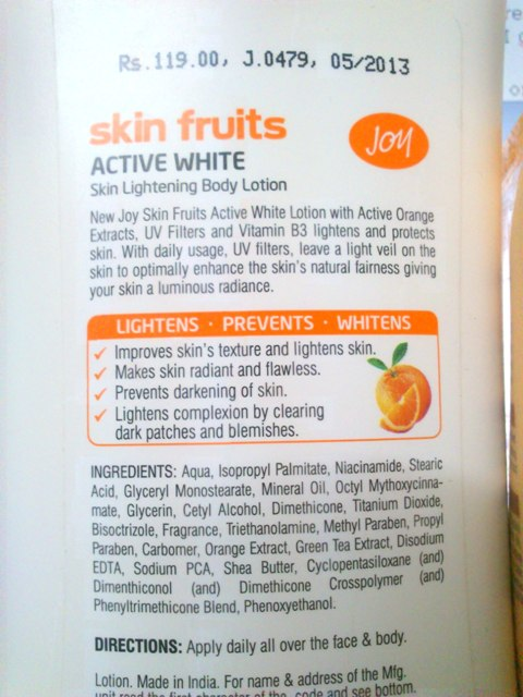Joy Skin Fruits Active White Skin Lightening Body Lotion  (1)