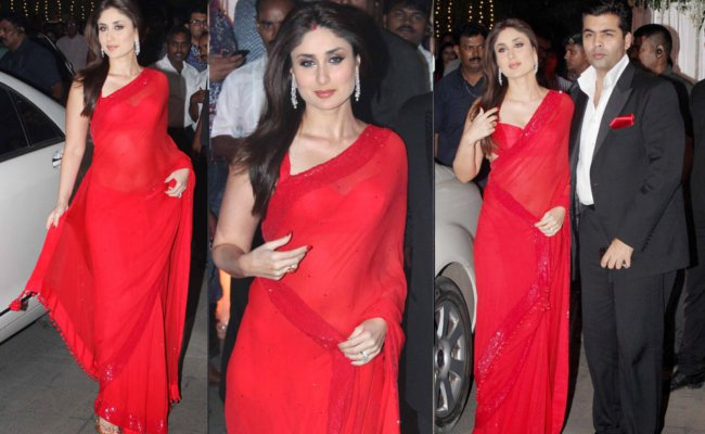 Kareena Kapoor red saree