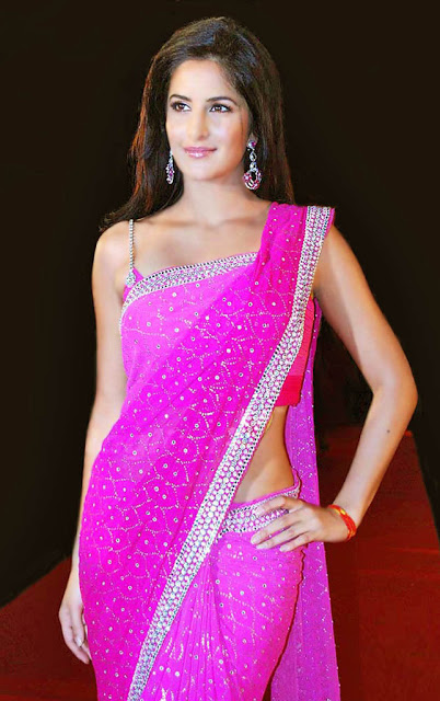 Katrina Kaif in pink saree