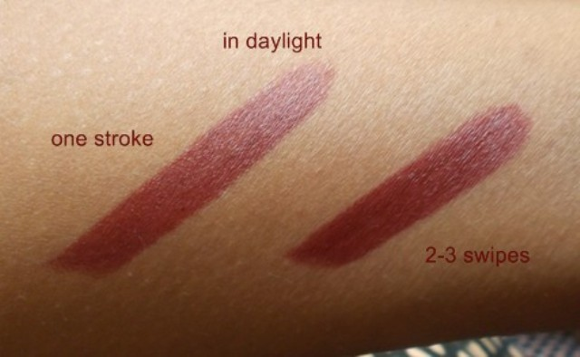 Maybelline Superstay 14 hrs Lipstick - Wine and forever swatches (1)