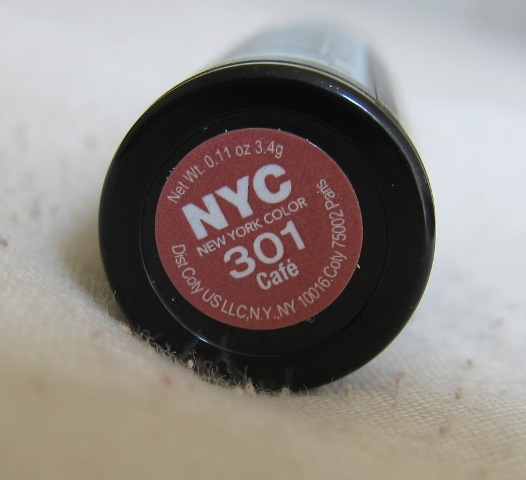 NYC Ultra Moist Lipwear 301 Cafe Review Indian Makeup Blog