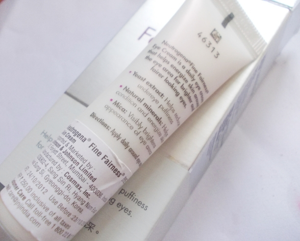 Nuetrogena Fine Fairness Eye Cream (5)