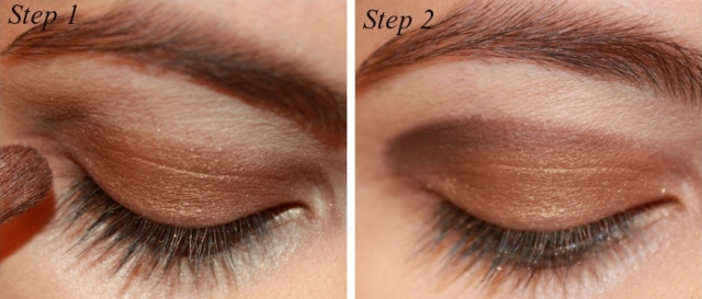Smoky Brown Eye Makeup Tutorial Step 1 - 2