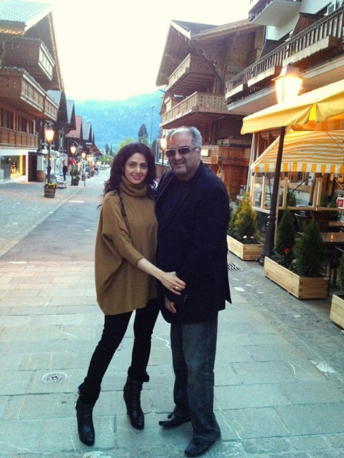 Sridevi Boney Kapoor Switzerland