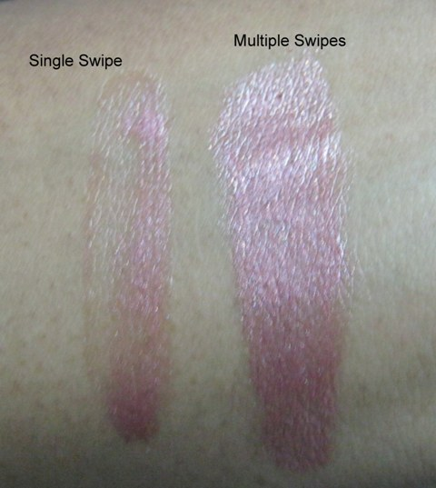 Street Wear Shine Divine Lip colour in Glimmer Pink swatches