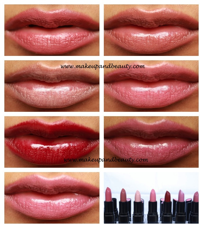 Brown Color Swatches Bobbi brown rich lip color lip swatches. l-r top ...