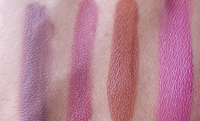 Chambor Flowing Lipstick - Rum Rose, Pink Rose, Matte Rose & Perfect Rose swatches