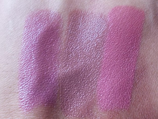 Chambor Silk Touch Lipsticks Silk Trouffle, Silk Pink & Silk Rose swatches