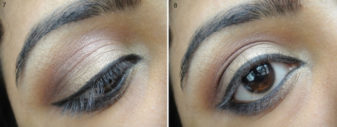 Champagne and Bronze Eye Makeup Tutorial