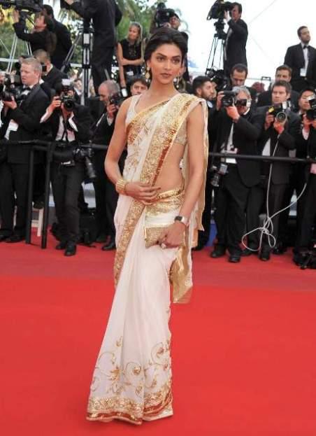 Deepika+Padukone+in+Saree