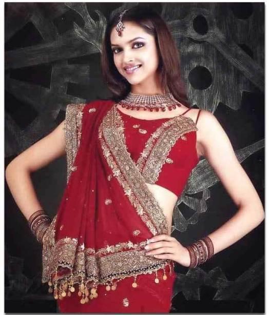 Deepika Padukone in red saree