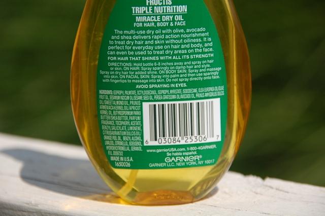 Garnier Fructis Triple Nutrition Miracle Dry Oil  (5)