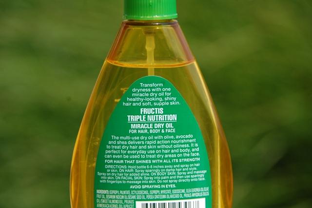 Garnier Fructis Triple Nutrition Miracle Dry Oil  Ingredients