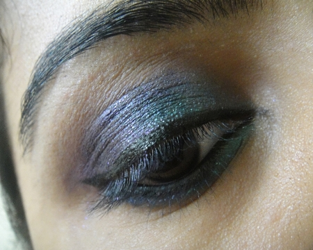 Green+and+Purple+Eye+Makeup+Tutorial+Using+Eyeliner+Pencils