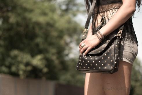Handbag spiked