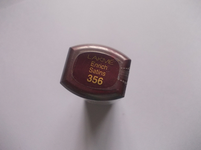 Lakme Enirch Satins Lipstick shade 356 (1)