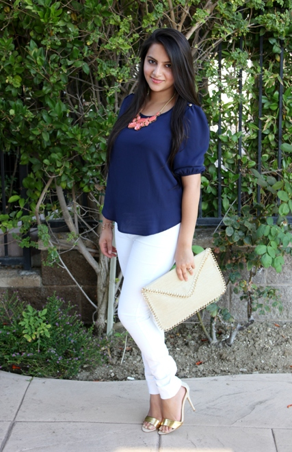 Outfit+of+the+Day+Navy+Blue+Blouse