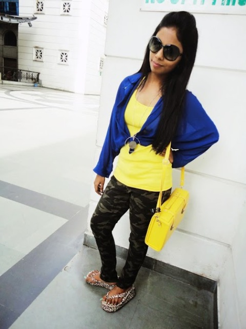 Outfit of the Day Yellow and Blue (4)