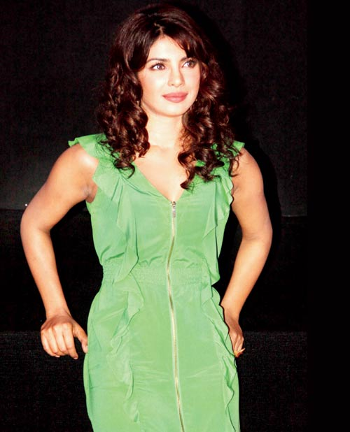 Priyanka Chopra in green dress